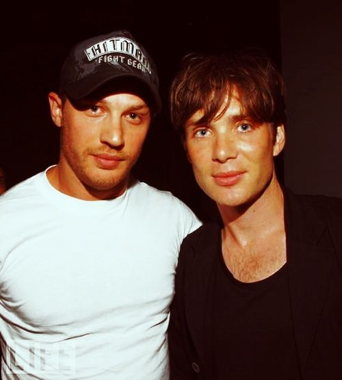 Tom Hardy & Cillian Murphy. A female nerd's dream. Tom is a sweet guy, but you can keep him, I'm perfectly fine with just Cillian :)