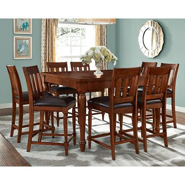Victoria CounterHeight 9Piece Dining Set Home Decor