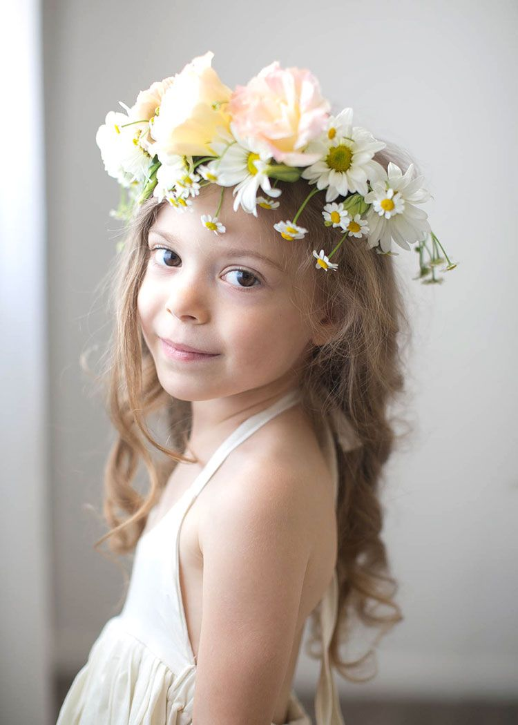 A peek behind the scenes of mother child co sessions child child a sweet portrait of a little girl with a fresh flower crown izmirmasajfo Gallery