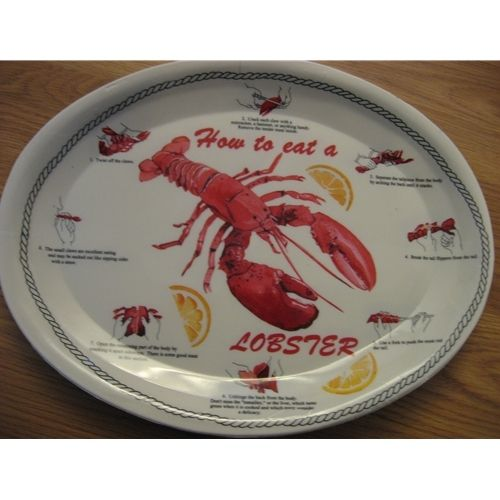 Cape Porpoise Kitchen: Lobster Dinner Plates 4 Pack - ADD-ON ONLY