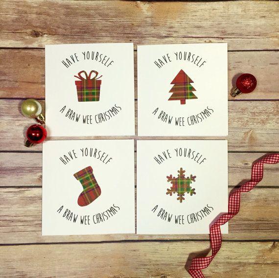 Scottish Christmas Cards, Tartan Cards, Christmas Multipack