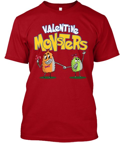 Valentine Monsters!Best Selling Tee 2017 Deep Red T-Shirt Front
