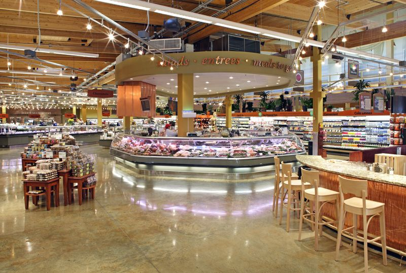 Whole Foods Market (Interior Finishes - Wood, Stained Concrete, Lighting, Case Design/Lighting ...
