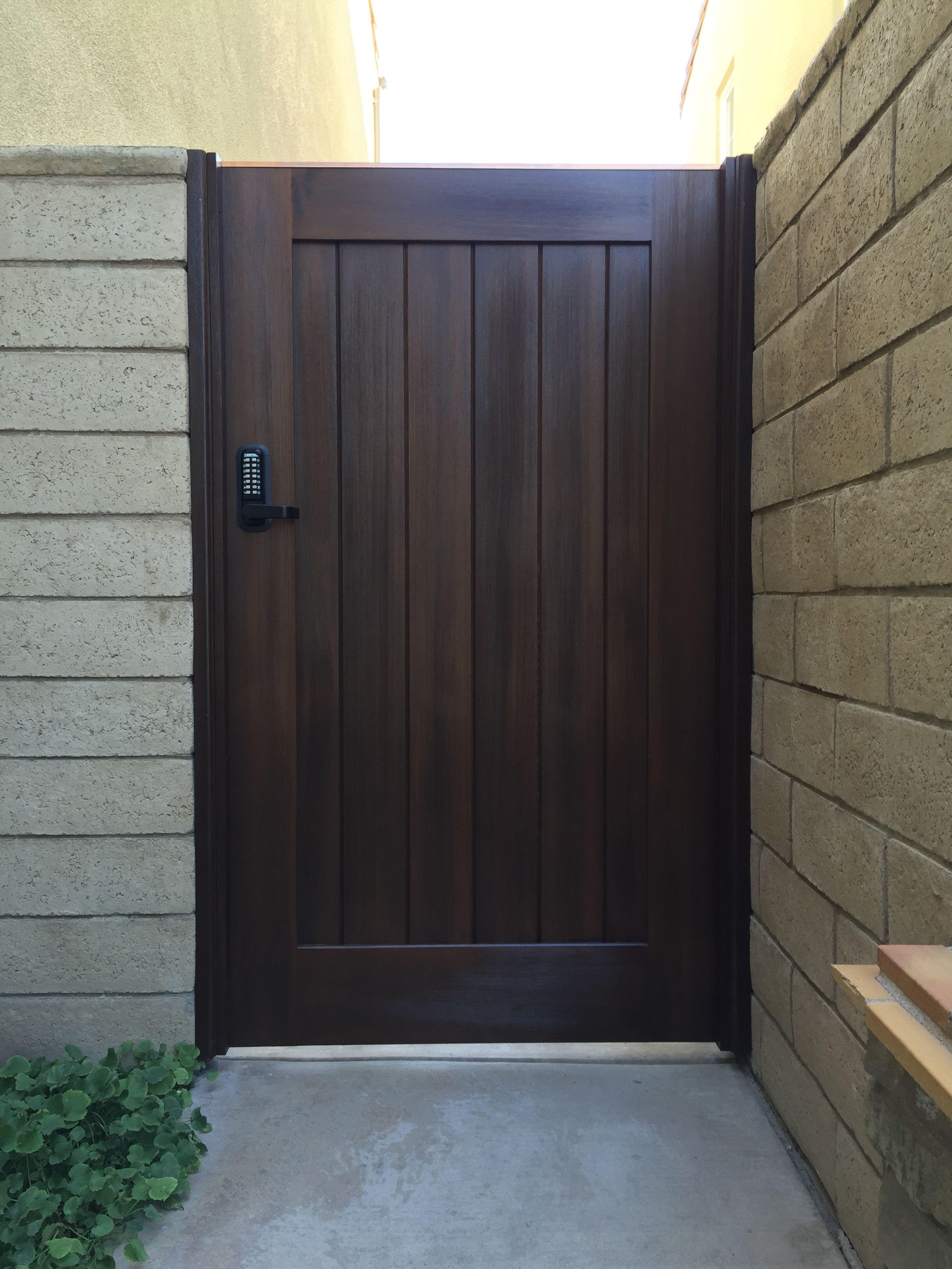 Custom Wood Gate By Garden Passages Puerta De Madera Para Jardin