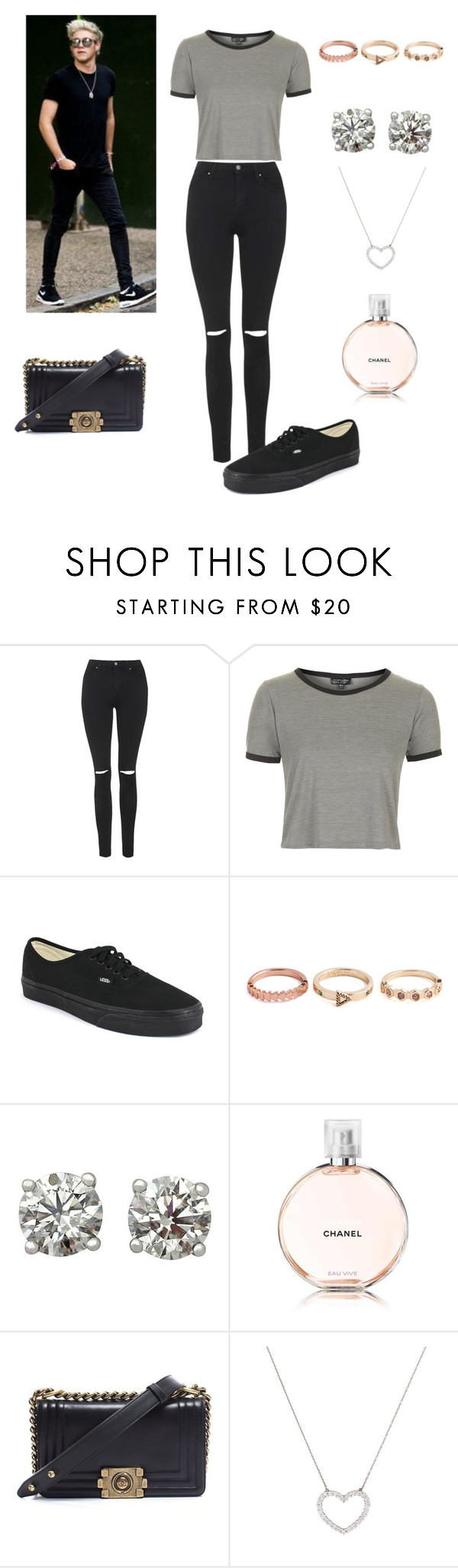 """""""wireless festival con Niall"""" by roldanroo ❤ liked on Polyvore featuring beauty, Topshop, Vans, Chanel and Tiffany & Co."""
