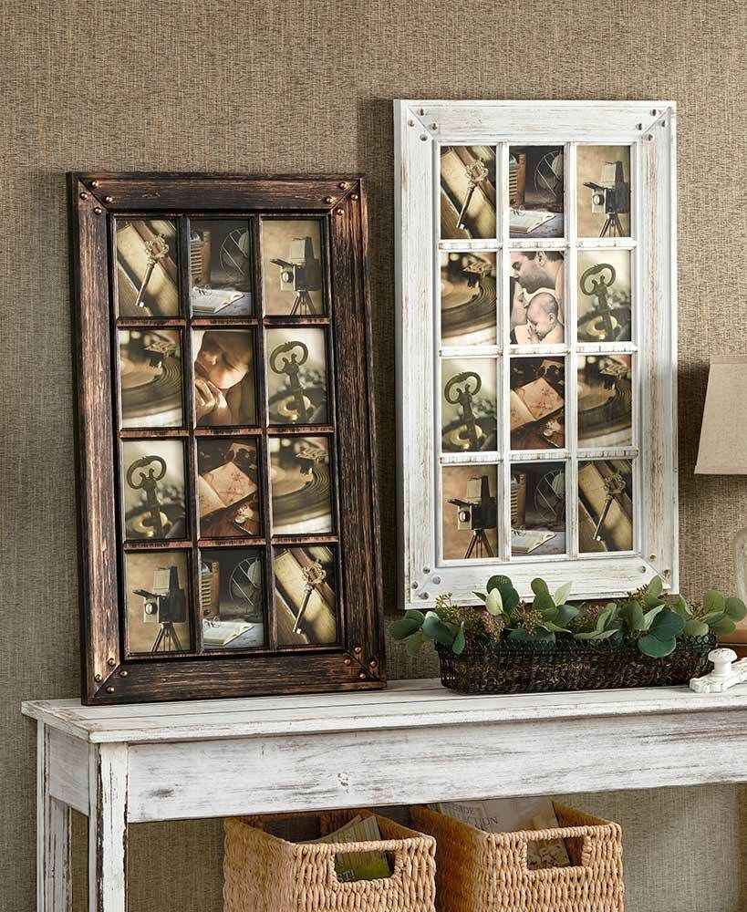 12 Opening Collage Photo Frame Country Rustic Farmhouse Home Decor Bronze White Ebay In 2020 Framed Photo Collage Rustic Photo Frames Collage Picture Frames