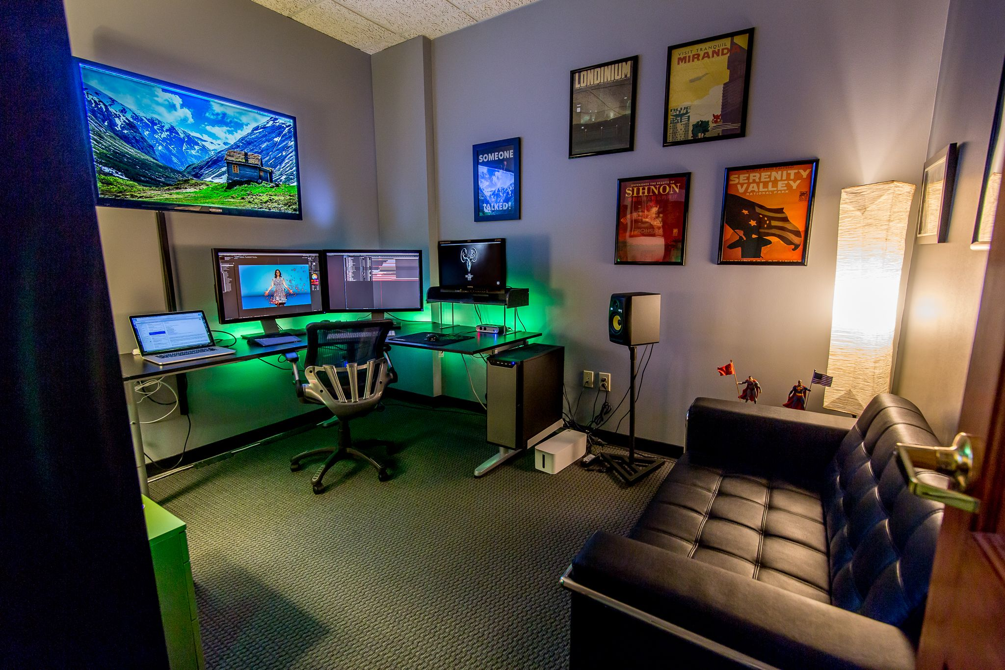 Favorite ecgprod editing suite pinterest gaming for Office room setup