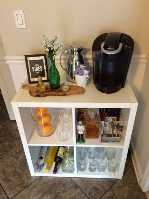 Ikea hack cocktail coffee bar ikea kallax expedit for Ikea cocktail table