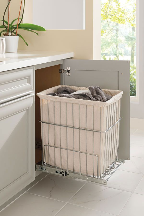 Diamond At Lowes Cabinet Interiors 18 Wide Vanity Hamper