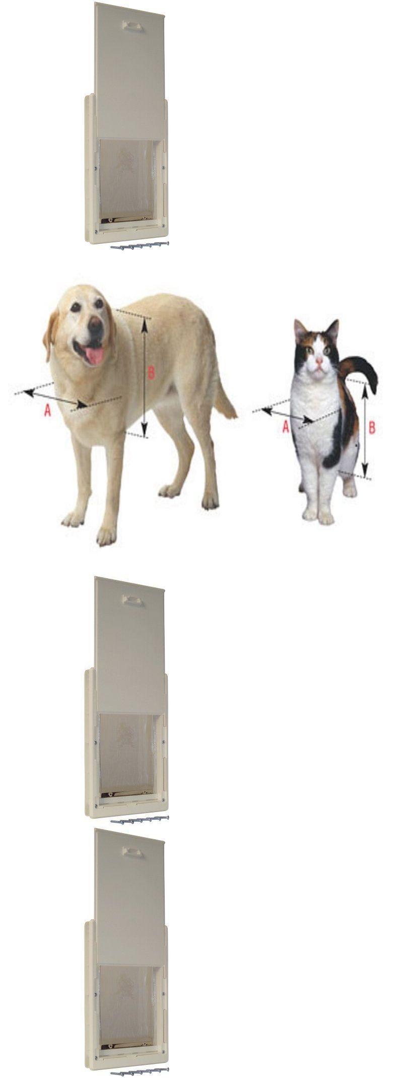 Doors And Flaps 116379 Dog Door Pet Cat Flap Medium Telescoping