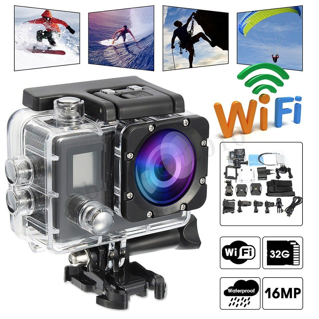 Wifi 1080P 4K Waterproof Sports Camera HD DV Car Action