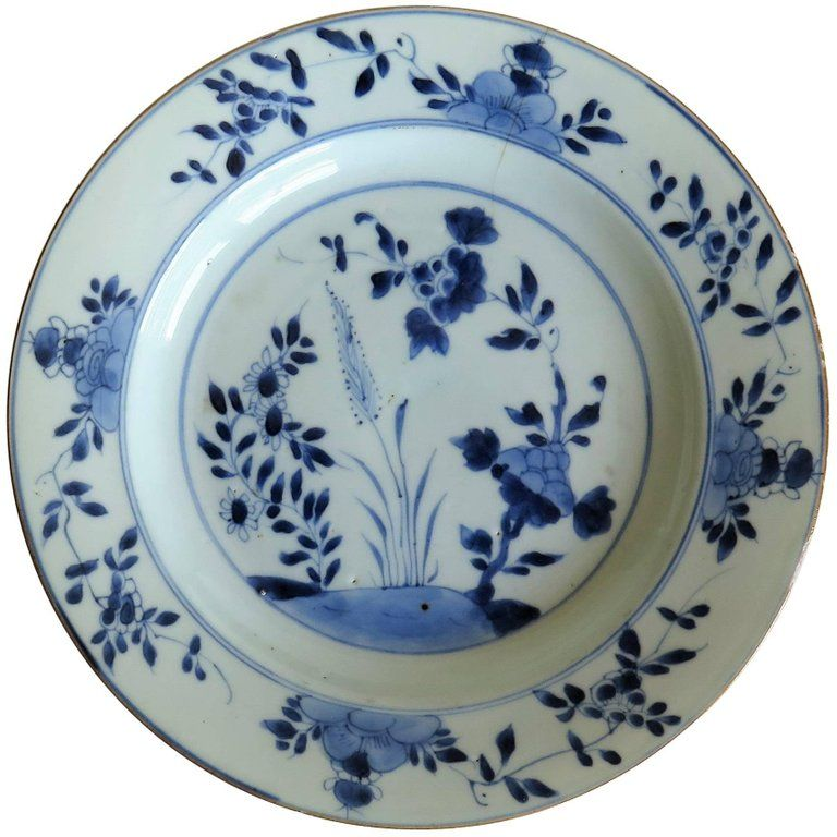 18th Century Chinese Export Porcelain Plate Blue And White Qing Circa 1735 Porcelain Blue Plates Ceramic Elephant