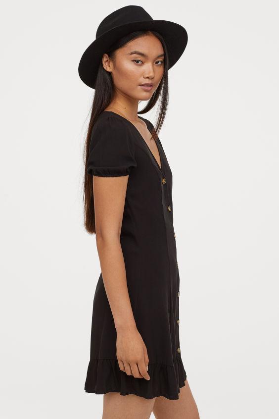 Photo of Kjole med knappene foran – Svart – DAME | H&M NR