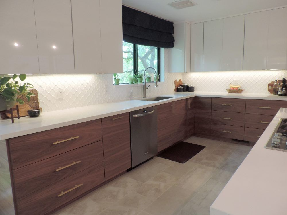 This Mid Century Modern Ikea Kitchen Will Take Your Breath Away Modern Ikea Kitchens Modern Kitchen Cabinet Design Modern Kitchen Design