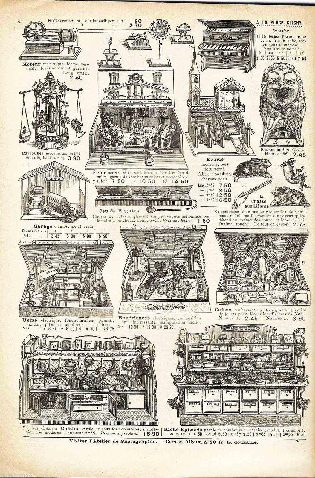 Rare Catalogue Jouets A La Place Clichy 1908 Boites De Jeux Panoplies Poupees In Jouets Et Jeux Jouets Jeux Anciens Piano Jouet Poupee Catalogue De Jouet