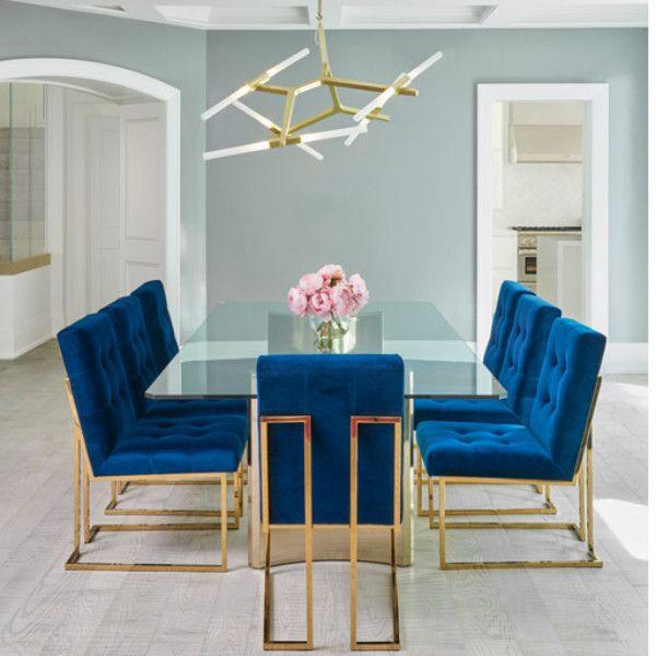 blue velvet living room chairs modern art for navy dining chair in 2019 decor pinterest