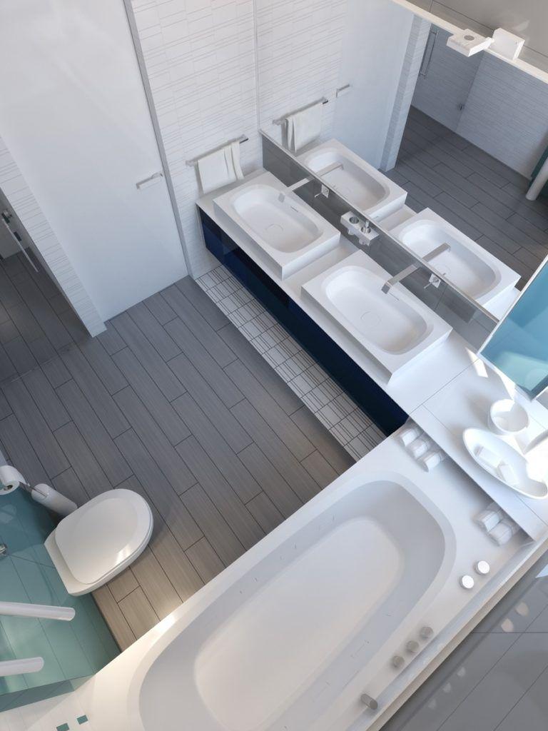 L Shaped Bathroom Remodel Ideas | Bathroom tile designs ...