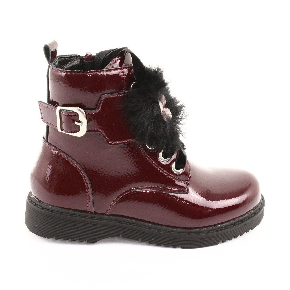 Glany Lakierowane Puszek Evento 1438 Czarne Czerwone Wielokolorowe Boots Childrens Boots Comfort Shoes Women
