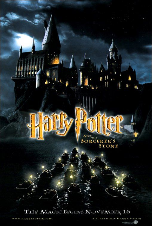 Harry Potter And The Sorcerer S Stone Movie Poster Harry Potter Poster Harry Potter Movie Posters The Sorcerer S Stone