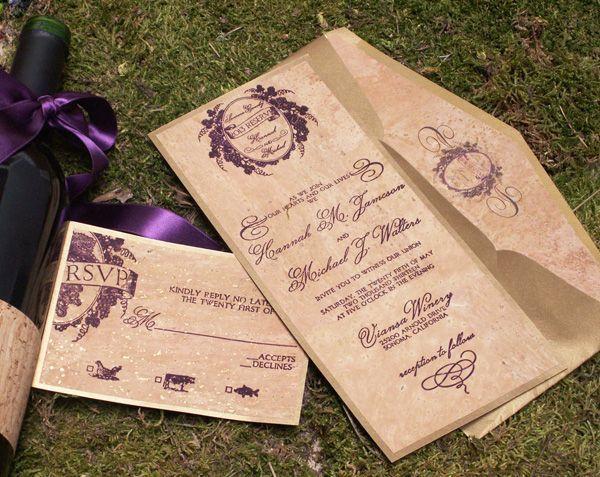 winery wedding invitations | Vineyard-Wedding-Invitation-Cork | Wedding Ideas