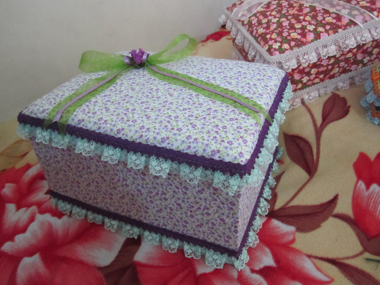 Cajitas decoradas con tela notebooks and boxes and - Cajas decoradas para bebes ...