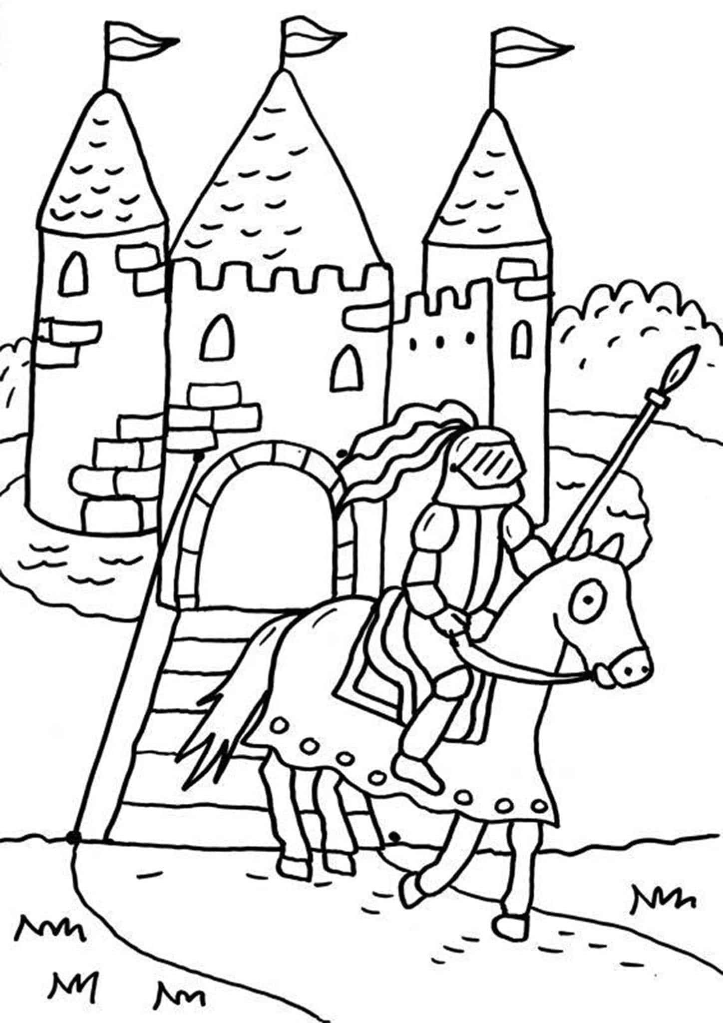 Free & Easy To Print Castle Coloring Pages in 24  Castle