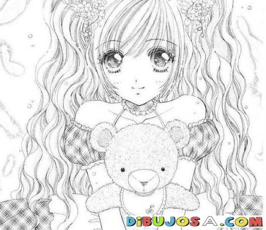 Anime Colorear Muchacha Anime Manga Dibujos Para Pintar