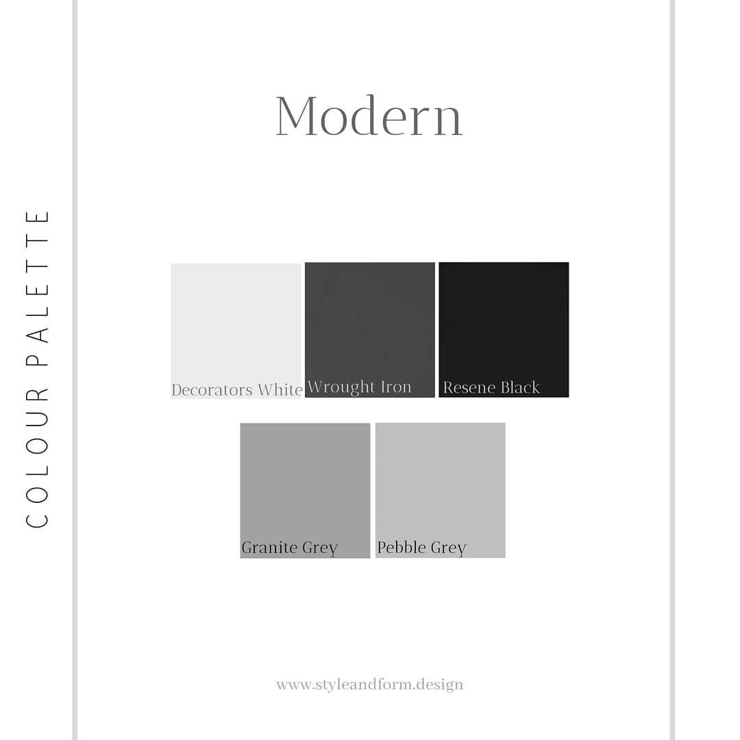 A Quick Little Colour Palette To Set Off The Modern Interior Design Style Similar To Minimalist And Scandinavian T Interior Design Styles Color Palette Color
