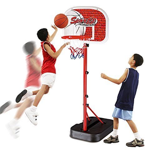 Basketball Hoop Set Toys Kids Indoor And Outdoor Team Game Play Stands Height Adjustable For Boys 6 7 8 9 Year Old Outdoor Team Games Basketball Hoop Team Games