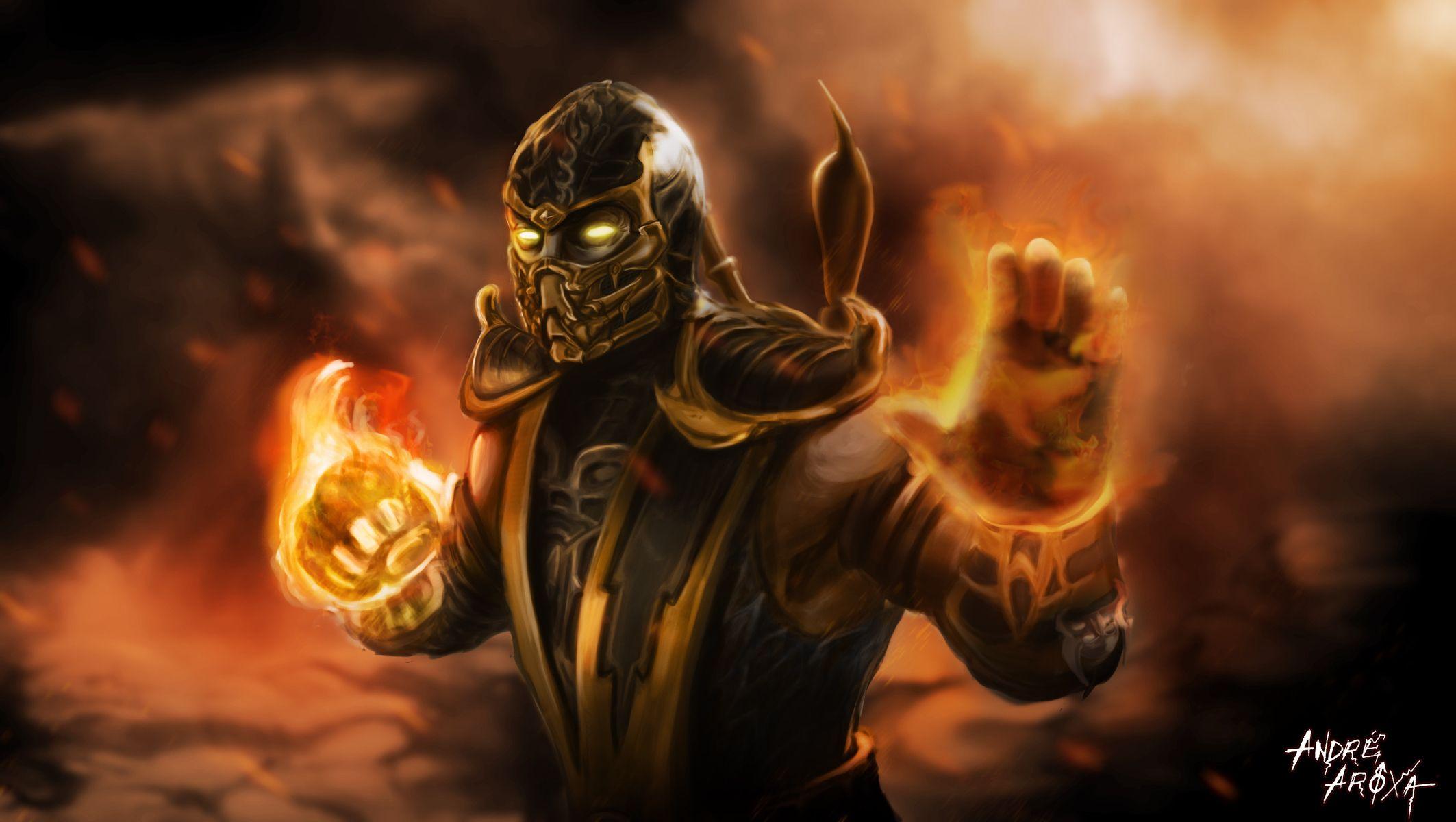 Mortal Kombat Scorpion Wallpaper Desktop Scorpion Mortal Kombat