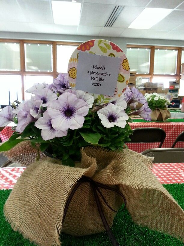Staff appreciation luncheon picnic theme my teacher