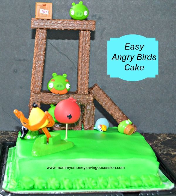 Super easy Angry Birds cake Cakes and Cupcakes Pinterest Angry