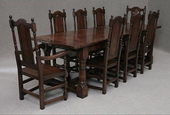 Kitchen Table Bespoke Tudor Traditional English Farmhouse Gothic
