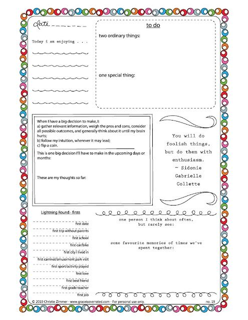 Free Journal Templates | Printable And Planners | Pinterest