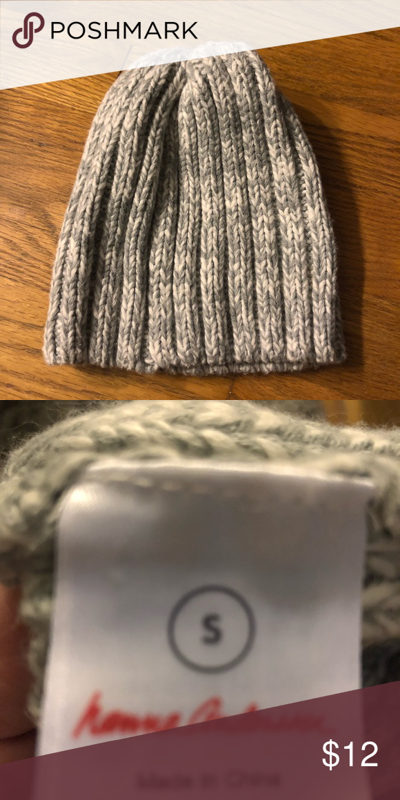 28bf5c13e96 Girls Hanna Andersson Hat Marled grey and white winter hat. Size toddler  small fits 18-24 months. Hanna Andersson Accessories Hats