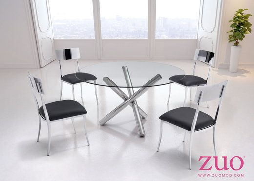 Zuo Modern 100353 Mach Dining Chair Black Set Of 2 Zuo Modern