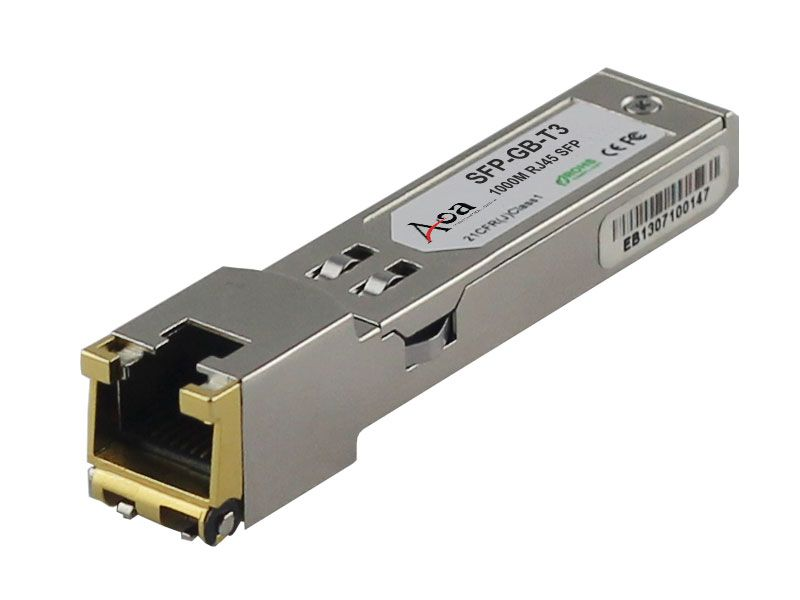 Sfp Gb T3 10 100 1000mbps Copper Sfp Transceiver Amplitude Modulation Twisted Pair Fiber Optic