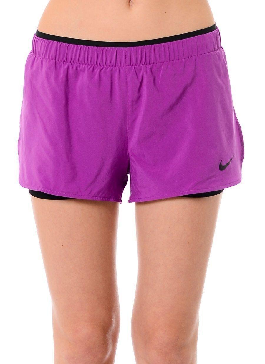 eee222b418678 Nike Dri-FIT Full Flex 2-in-1 Twist Compression Shorts Cosmic Purple NWT  XSmall