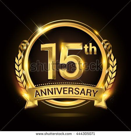 15th Golden Anniversary Logo 15 Years Anniversary Celebration With