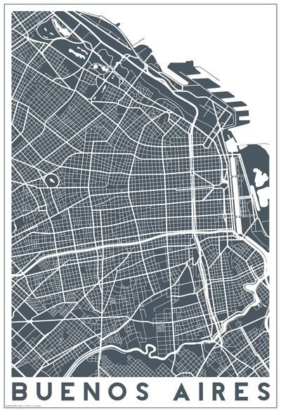 Buenos Aires Art Print By Studio Tesouro Map Argentina