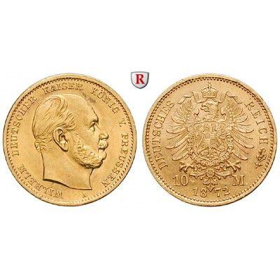 Deutsches Kaiserreich, Preussen, Wilhelm I., 10 Mark 1872, A, vz+, J. 242: Wilhelm I. 1861-1888. 10 Mark 1872 A. J. 242; GOLD,… #coins