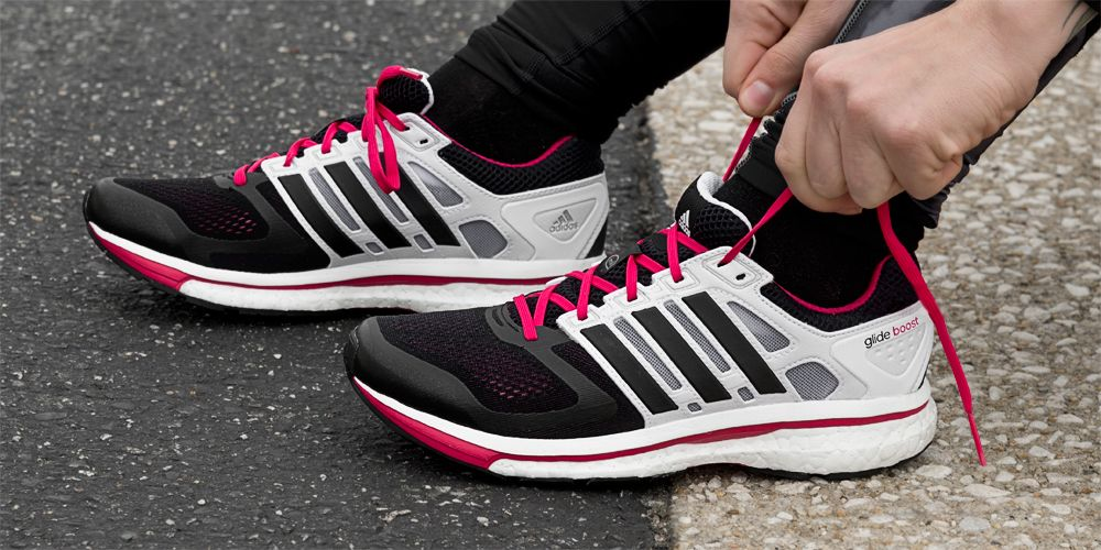 adidas Supernova Glide Boost Damen neon pink at Sport