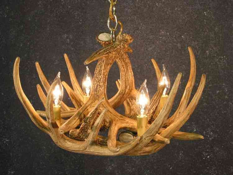 Deer antler chandelier kit antler chandelier pinterest deer the whitetail deer 6 antler chandelier from cast horn designs creates special lighting in small spaces add a beautiful deer antler chandelier to your home aloadofball Choice Image