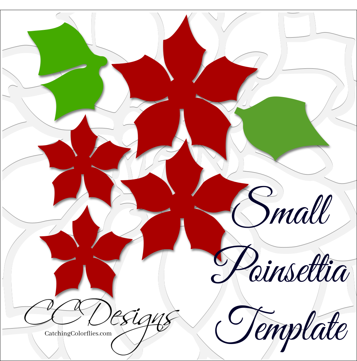 Small Poinsettia Paper Flower Diy Template Paper Flower Template Paper Flowers Paper Flowers Diy