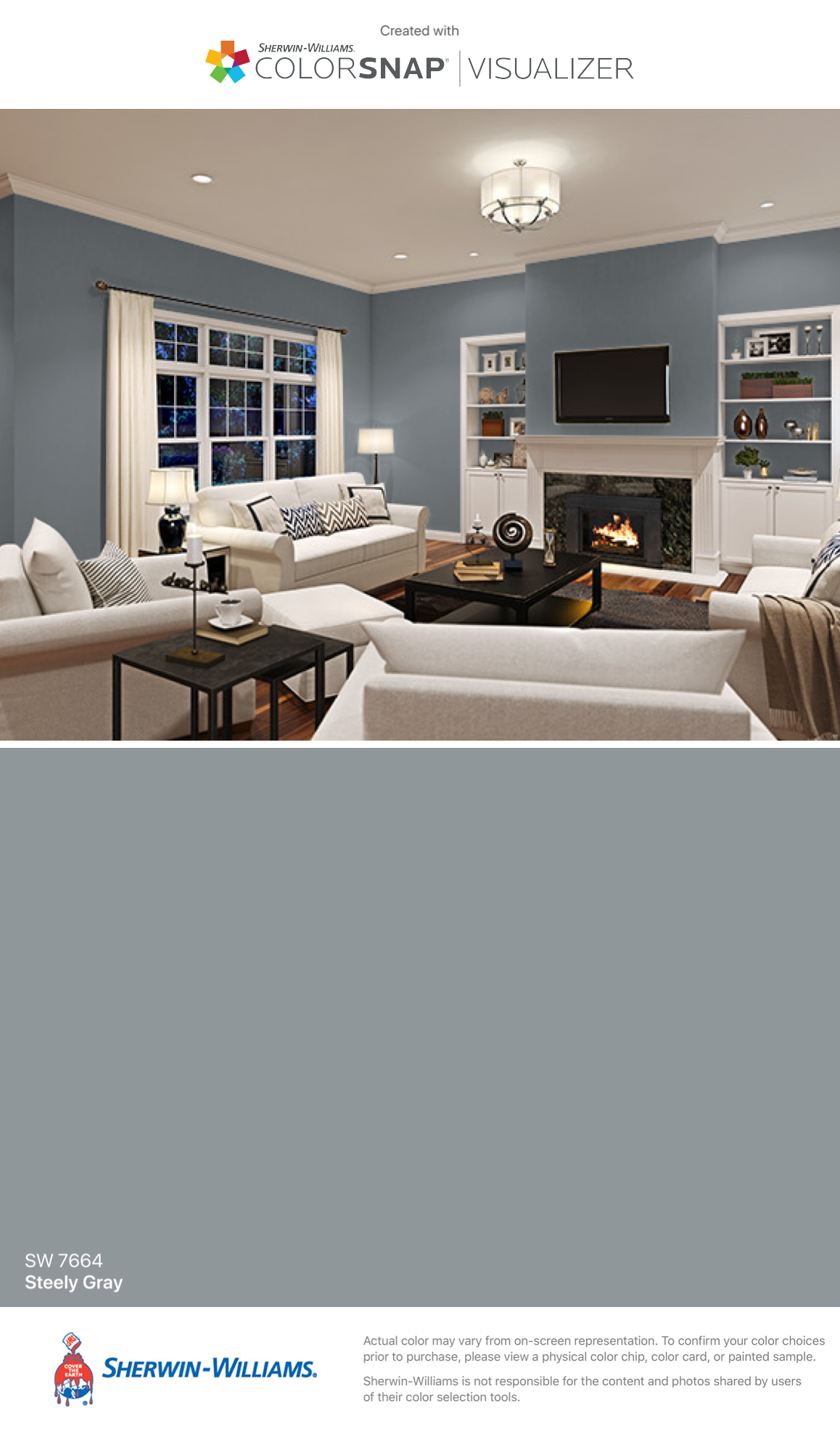 I Found This Color With Colorsnap Visualizer For Iphone By Sherwin Williams Steely Gray Sw 7664 Sherwin Williams Paint Colors Home Sherwin Williams Green
