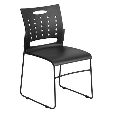 Free Shipping. Buy Flash Furniture HERCULES Series 881 Lb. Capacity Black  Sled Base Stack Chair With Air Vent Back At Walmart.com | Work | Pinterest  | Air ...