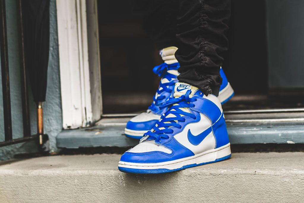 c34f2837b2d See how the 1999 Nike Dunk High LE Kentucky looks on feet in this video  review along with a brief write up including where you can still find these  online!