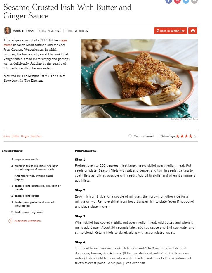Sesame Crusted Fish with Butter and Ginger Sauce