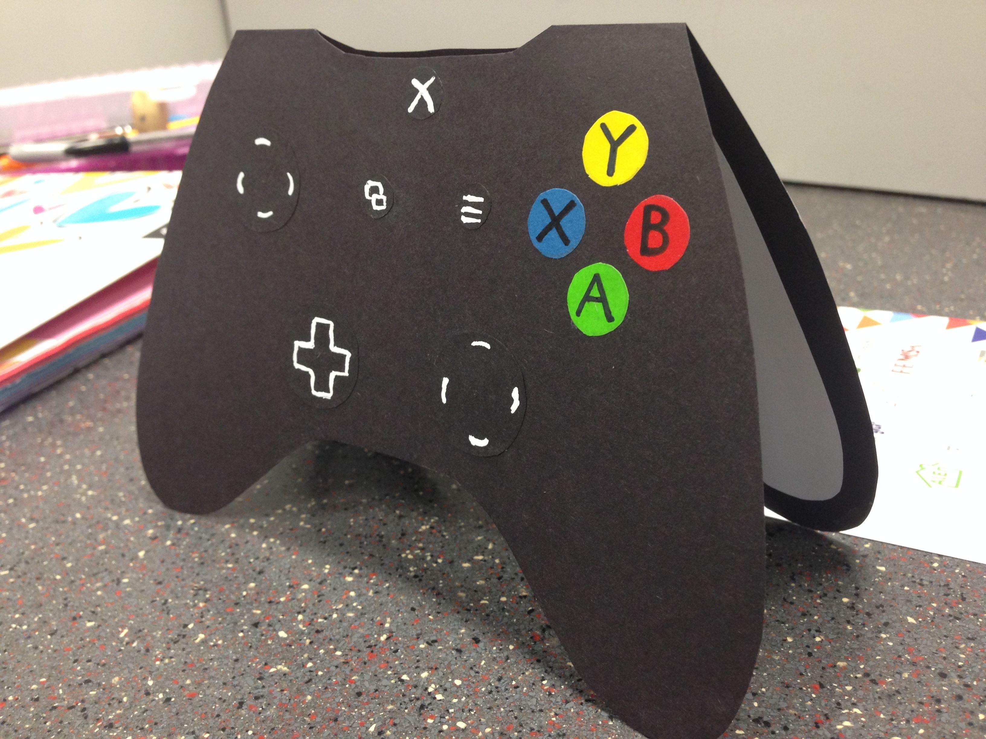 Xbox controller card boyfriend husband gift ideas