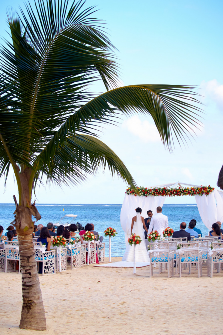 Beach Wedding At The C Club Mauritius